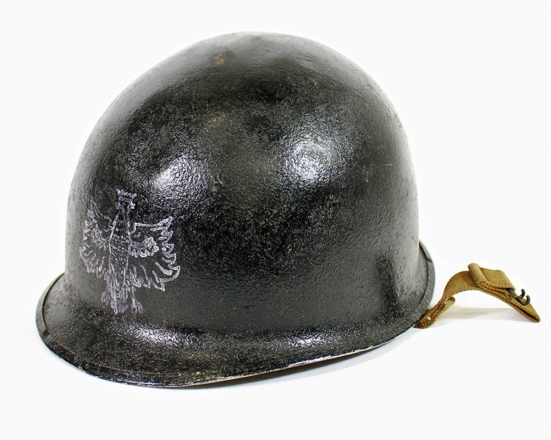 WWII POLISH EAGLE COMBAT HELMET
