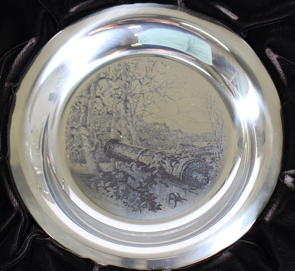 (3) STERLING FRANKLIN MINT JAMES WYETH PLATES - 2