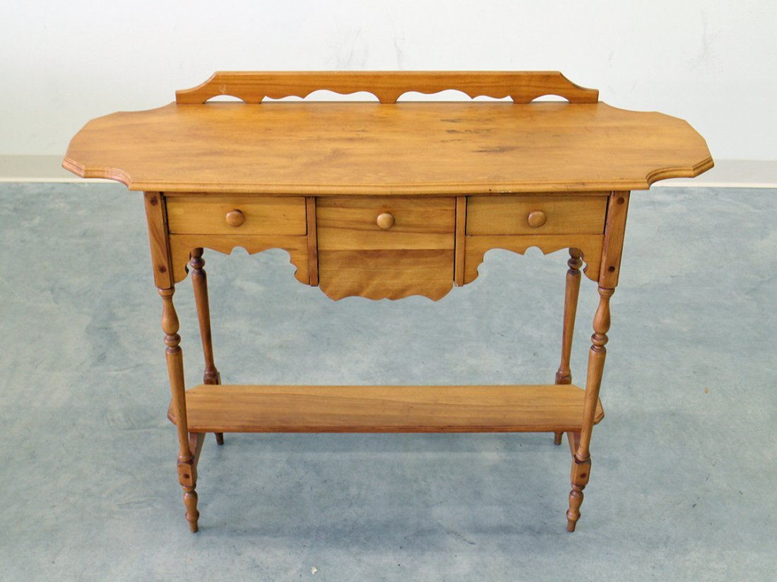WOOD CONSOLE TABLE - 2