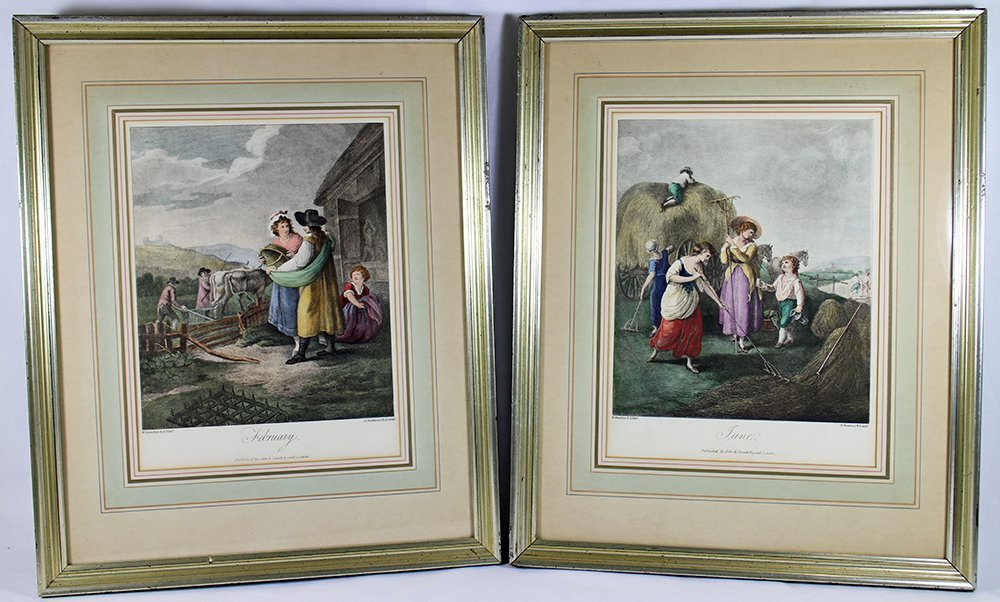 (2) W. HAMILTON COLORED ENGRAVINGS