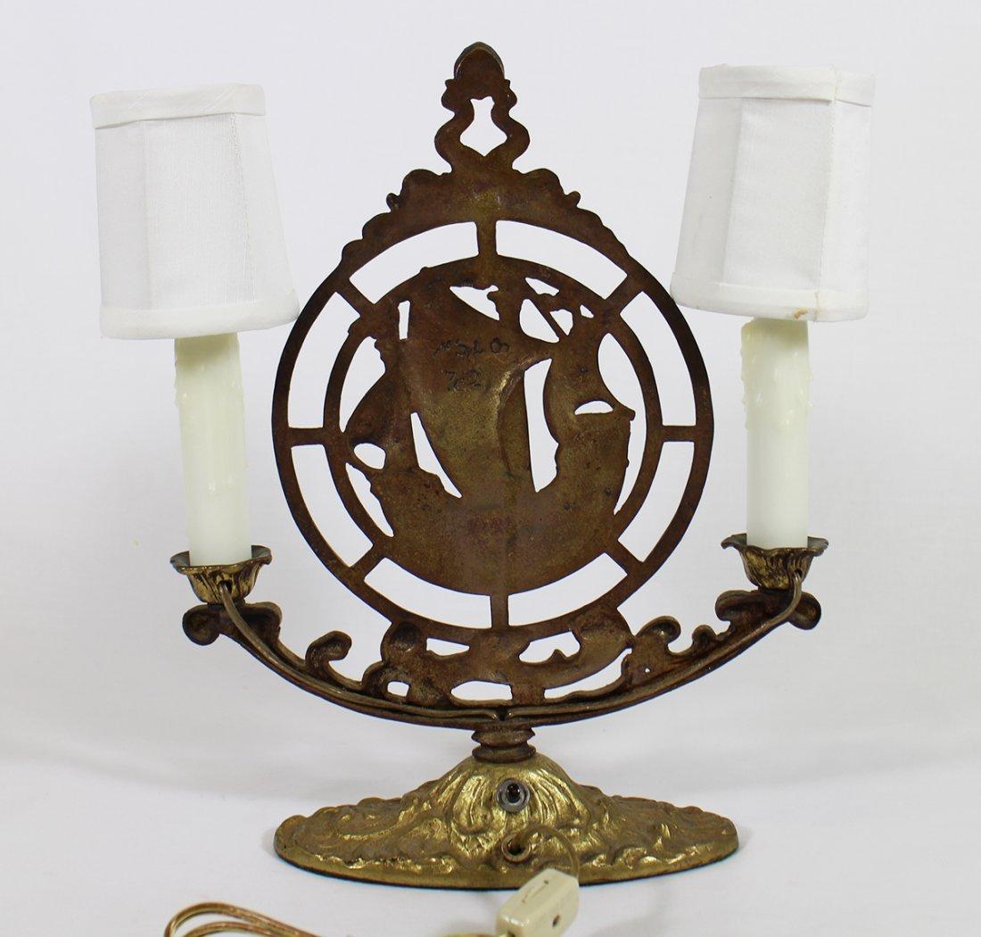 BRASS SAILING SHIP LAMP - 2