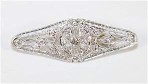 PLATINUM ART DECO DIAMOND BROOCH
