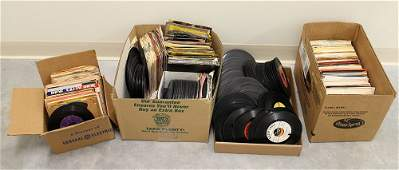 OVER 500 VINTAGE 45 RPM RECORD ALBUMS
