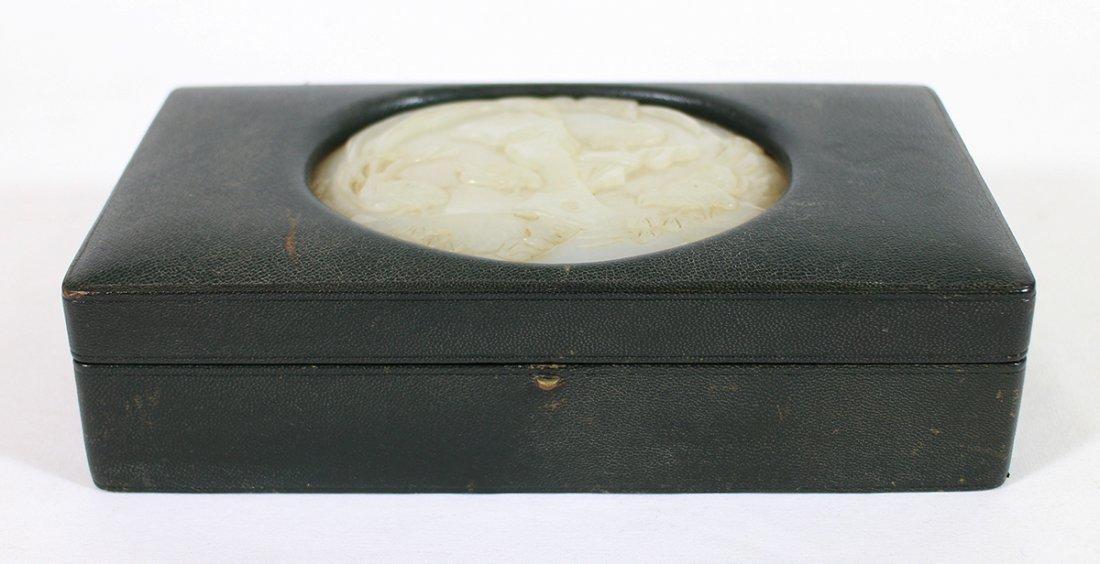 QING DYNASTY CHINESE JADE MOUNTED BOX