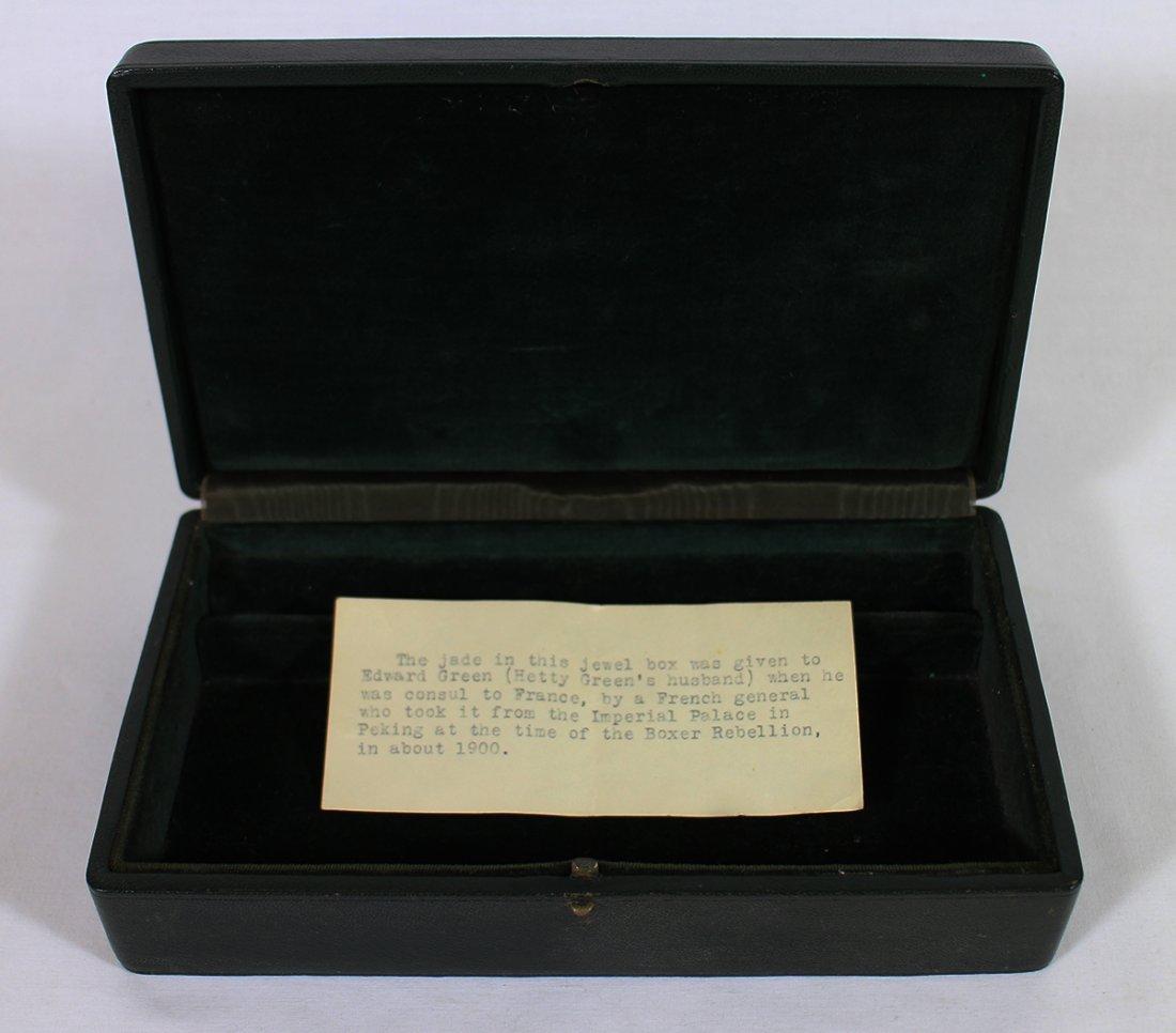 QING DYNASTY CHINESE JADE MOUNTED BOX - 5