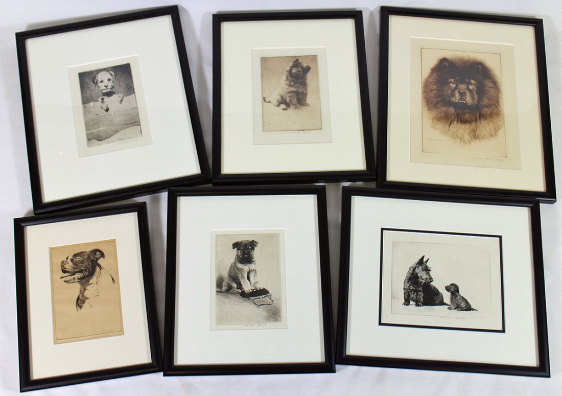 (6) MORGAN DENNIS ETCHINGS