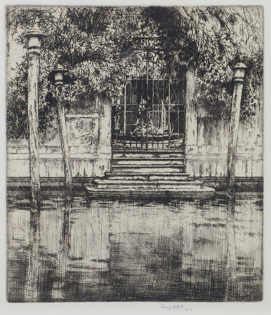 ERNEST D. ROTH SIGNED ETCHING