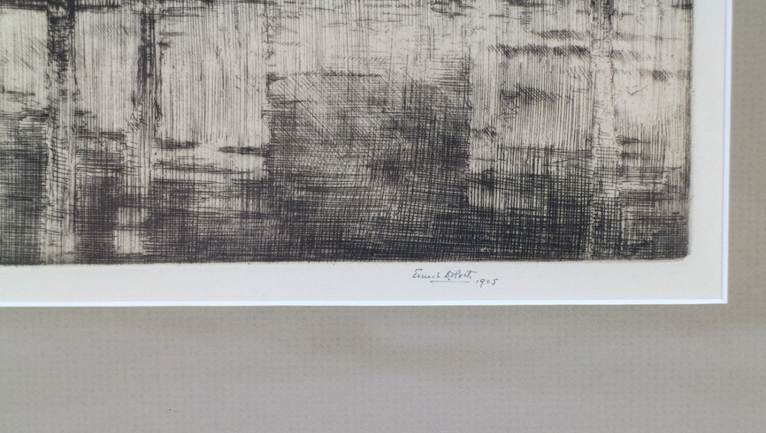 ERNEST D. ROTH SIGNED ETCHING - 2