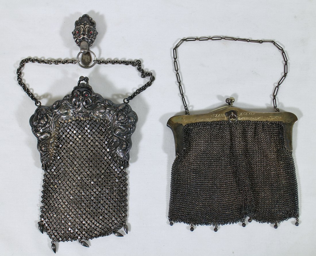 (2) STERLING SILVER PURSES