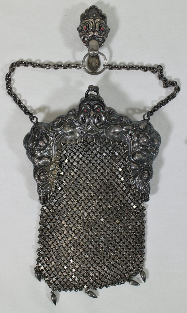 (2) STERLING SILVER PURSES - 2