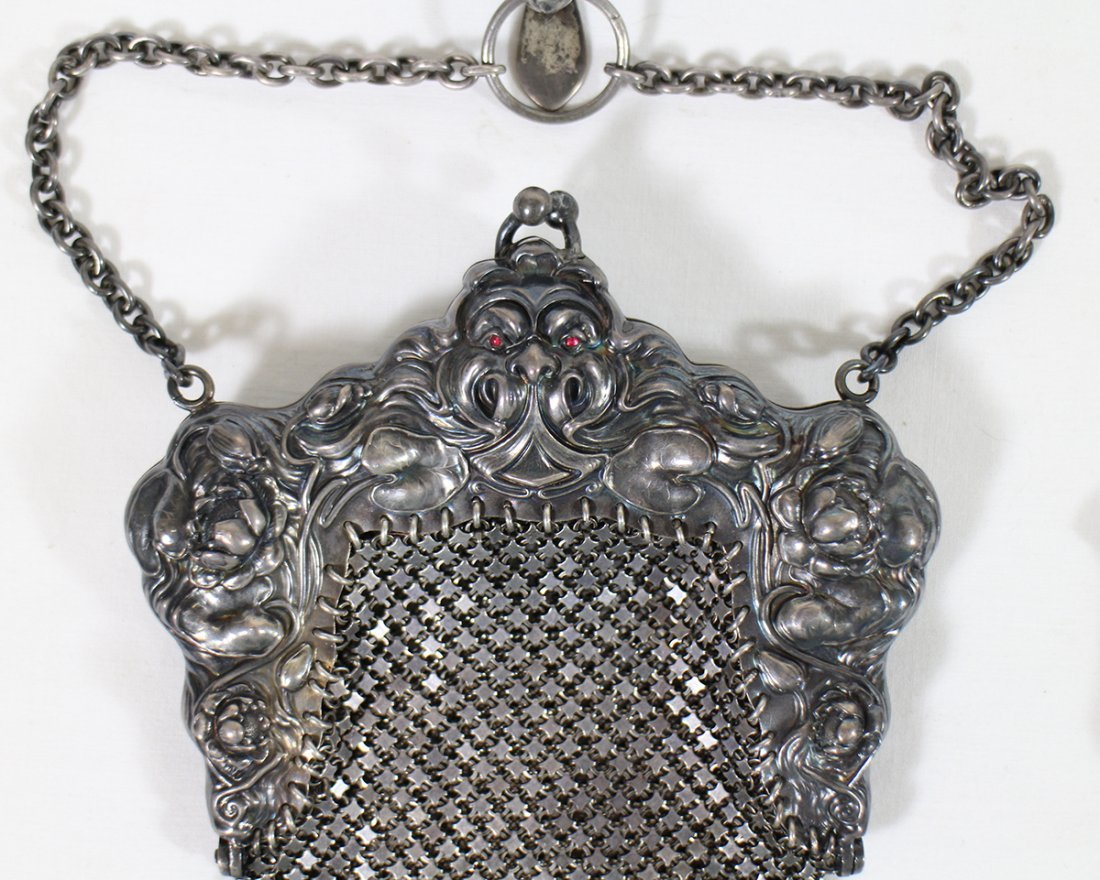 (2) STERLING SILVER PURSES - 3