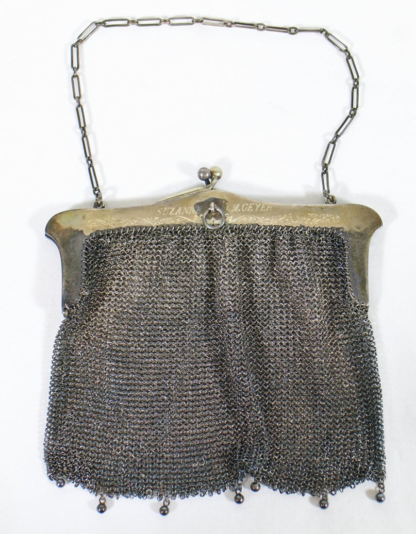 (2) STERLING SILVER PURSES - 6
