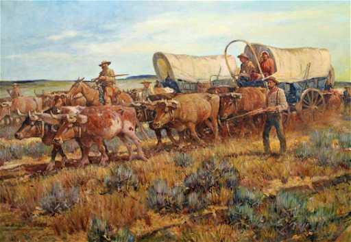 Nicholas Eggenhofer Quot Oregon Trail Quot Painting