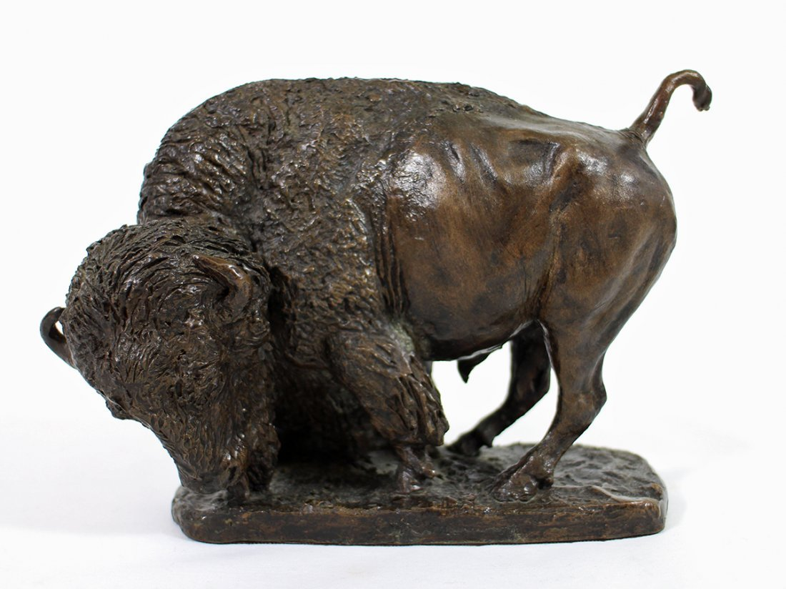 GEORGE PHIPPEN BRONZE BUFFALO SCULPTURE