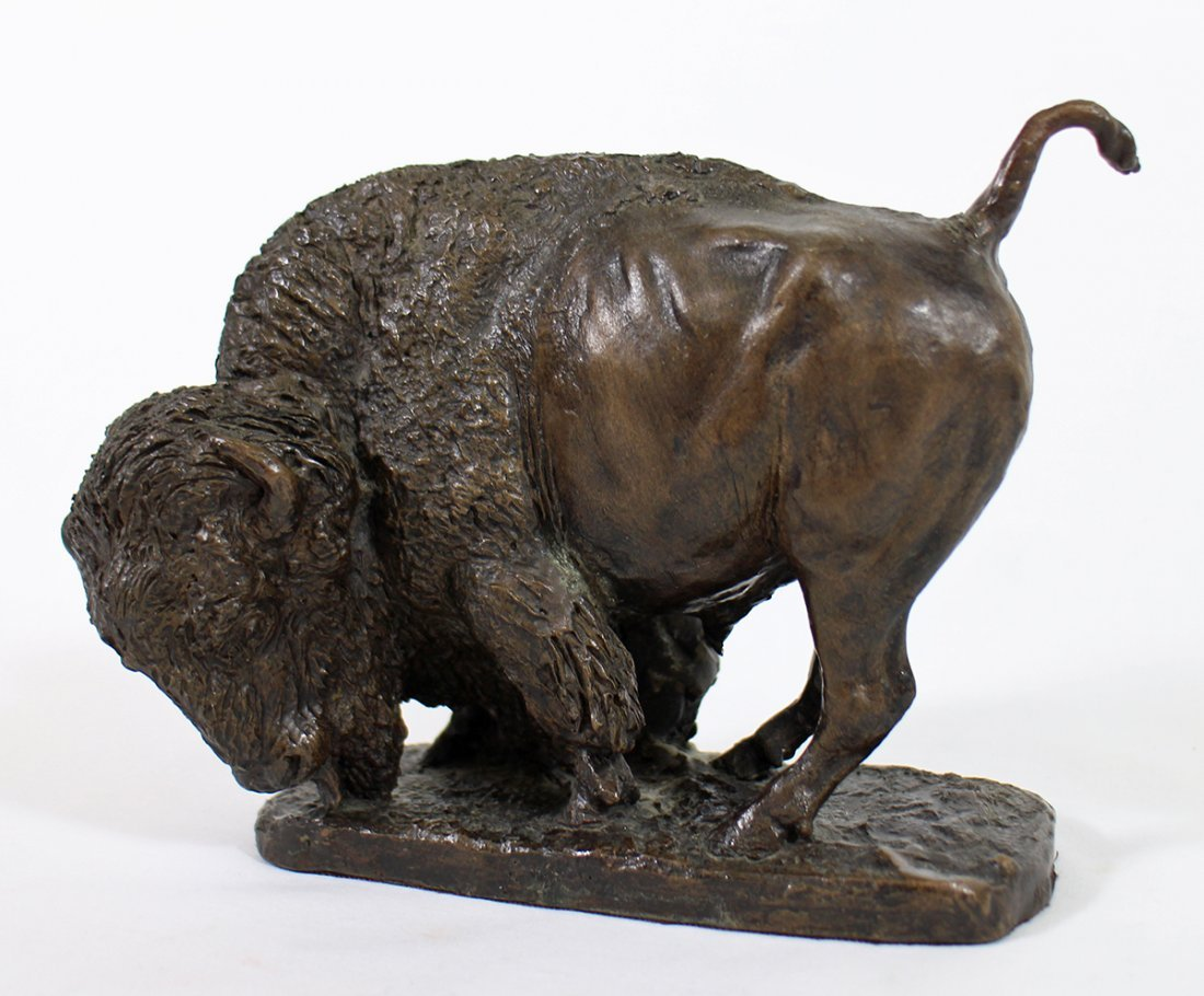 GEORGE PHIPPEN BRONZE BUFFALO SCULPTURE - 2