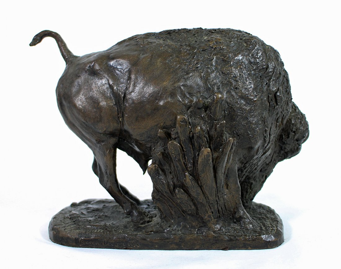 GEORGE PHIPPEN BRONZE BUFFALO SCULPTURE - 3