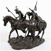 "BOB SCRIVER ""ENEMY TRACKS"" BRONZE"