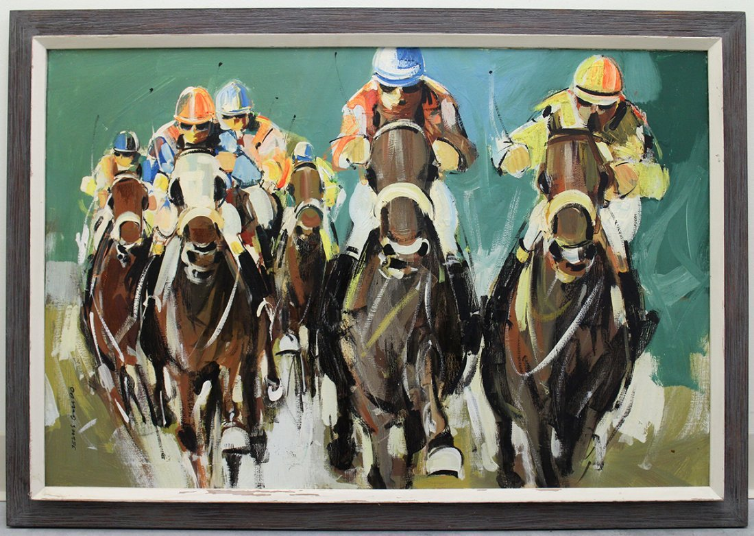 HORSE RACING PAINTING - 3