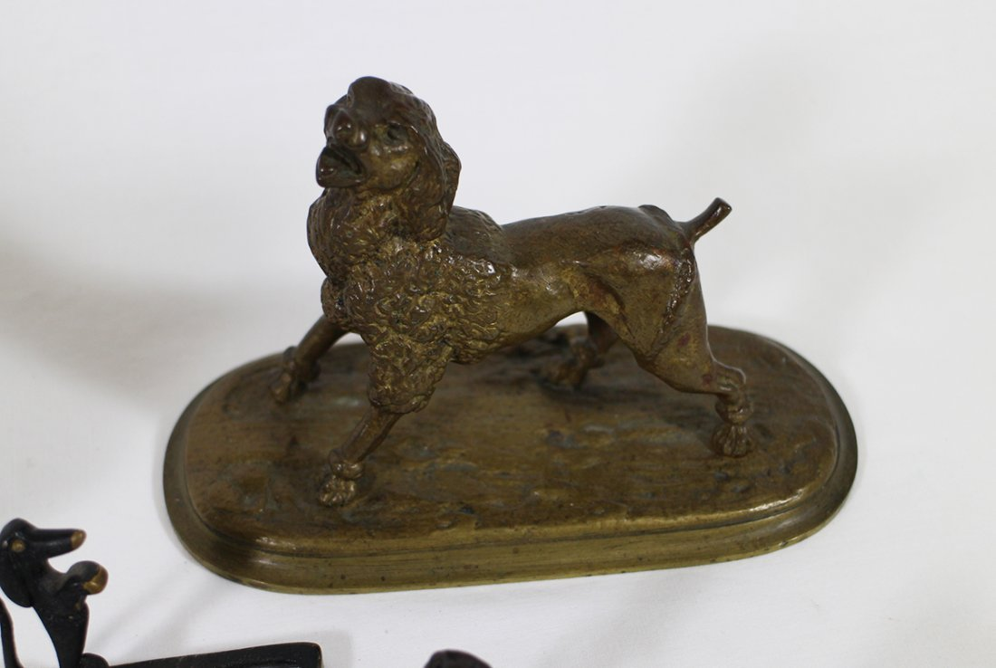 VINTAGE CAST METAL BRONZE DOG SCULPTURES - 2