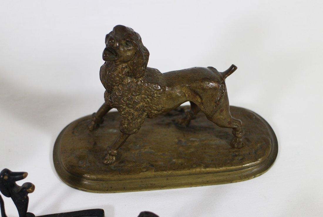 VINTAGE CAST METAL BRONZE DOG SCULPTURES - 2