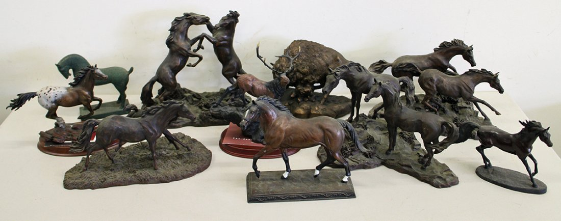 FRANKLIN MINT HORSE SCULPTURES