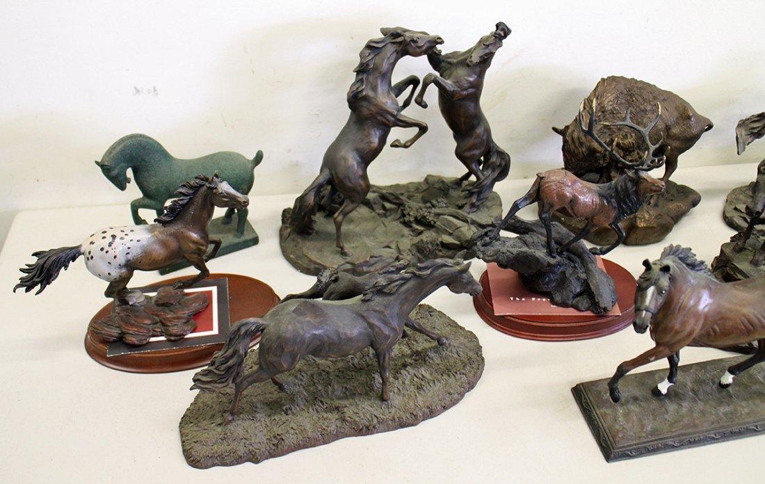 FRANKLIN MINT HORSE SCULPTURES - 2