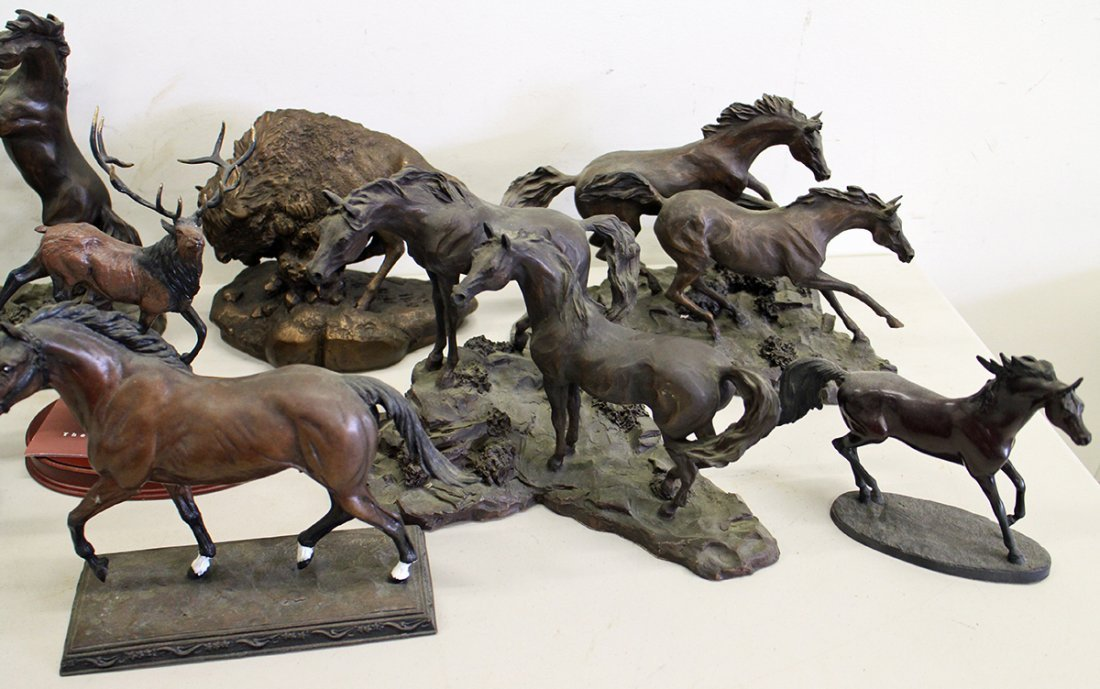 FRANKLIN MINT HORSE SCULPTURES - 3