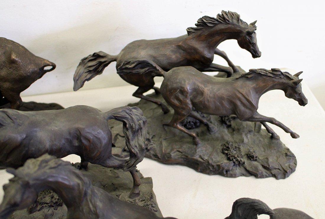 FRANKLIN MINT HORSE SCULPTURES - 4