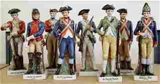 (8) REVOLUTIONARY WAR SOLDIER FIGURINES