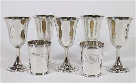 STERLING SILVER GOBLETS & MINT JULEP CUPS