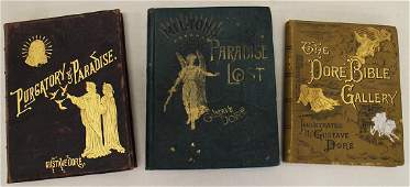 3 GUSTAVE DORE ILLUSTRATED BOOKS