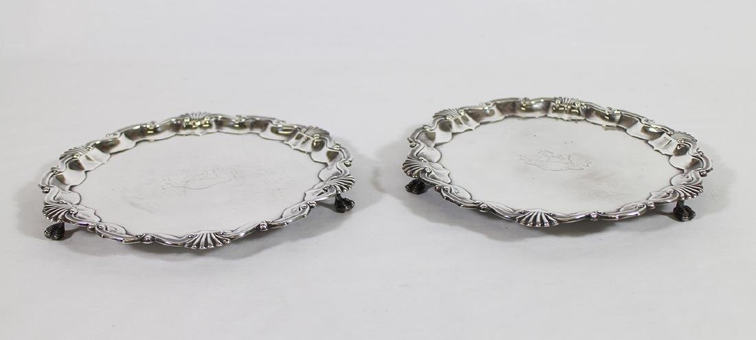 (2) ENGLISH STERLING SILVER SALVERS