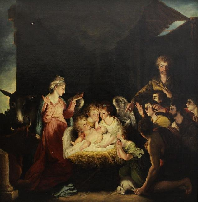 BIRTH OF CHRIST NATIVITY PAINTING