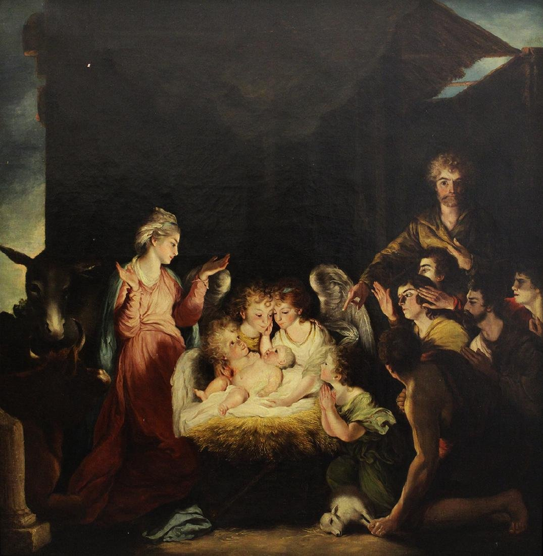 BIRTH OF CHRIST NATIVITY PAINTING