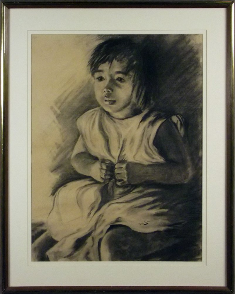 140: JUDSON CHARCOAL DRAWING