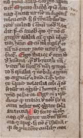 1275-1300 Medieval Manuscript on Vellum from Spain