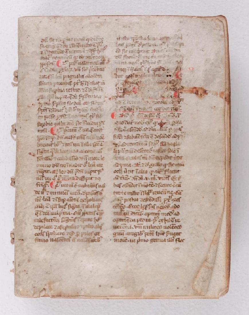 1275-1300 Medieval Manuscript on Vellum from Spain - 3