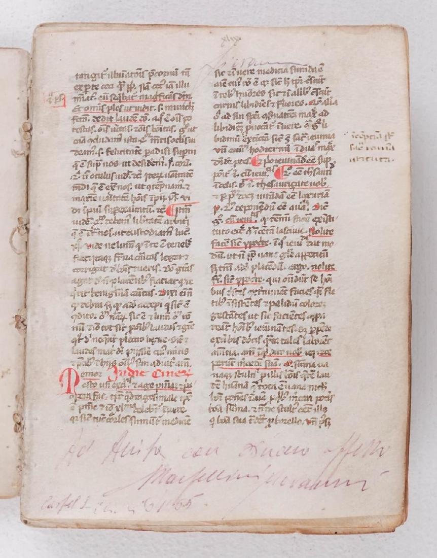 1275-1300 Medieval Manuscript on Vellum from Spain - 6