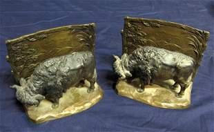 Bronze Bookends