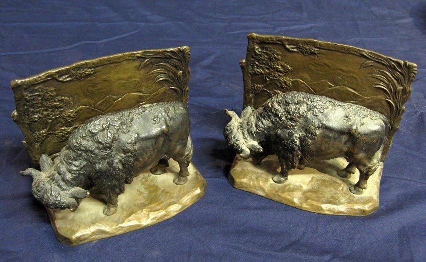11: Bronze Bookends
