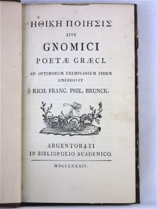 Ethiki poiesis, [Greek Title] sive Gnomici Poetae