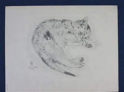 FOUJITA, TSUGUHARU. A Book of Cats. Poems by Michael