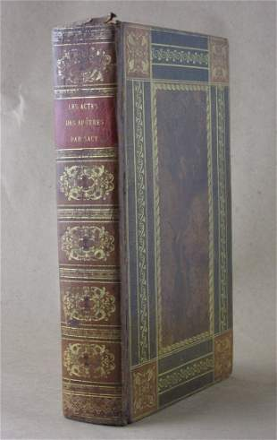 FRENCH BINDING. Les Actes des Apostres. Translated by