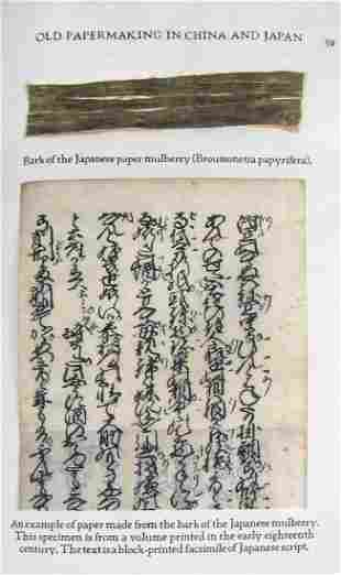 HUNTER, DARD. Old Papermaking in China and Japan.