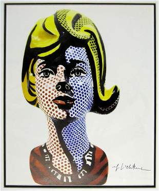 LICHTENSTEIN, ROY. Fine color print depicting an