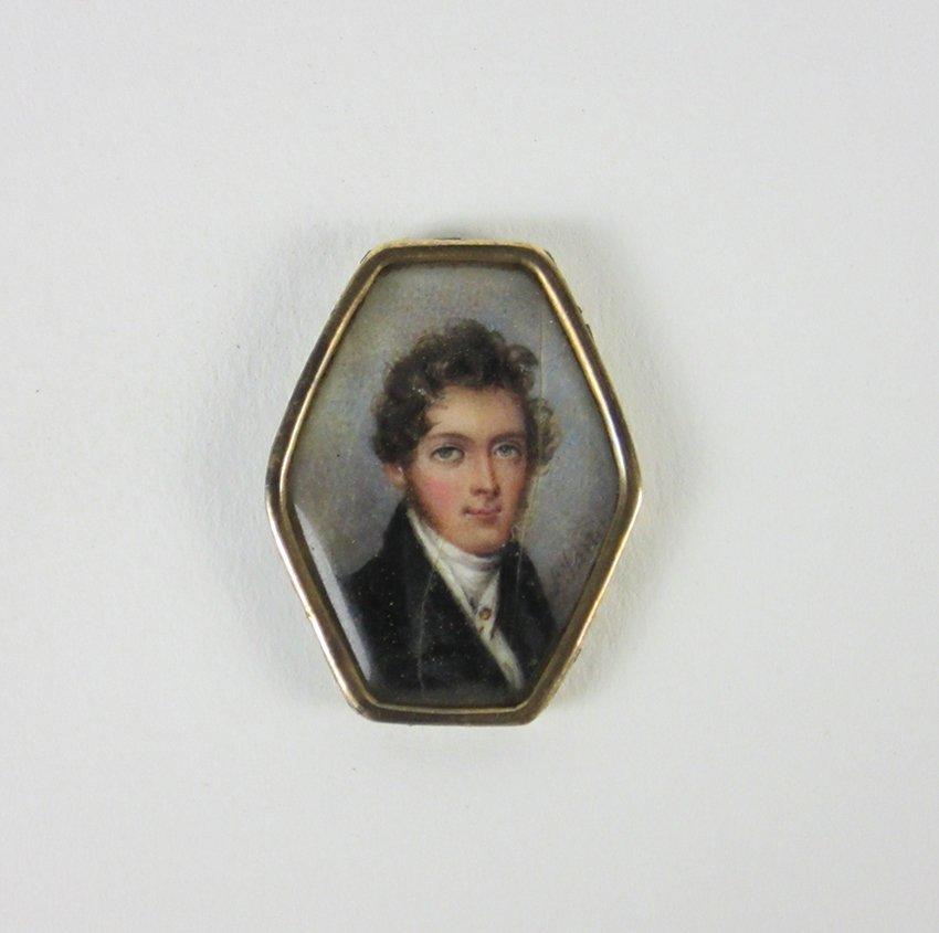 Miniature Portrait. JANIN, LOUISE 1781-1842