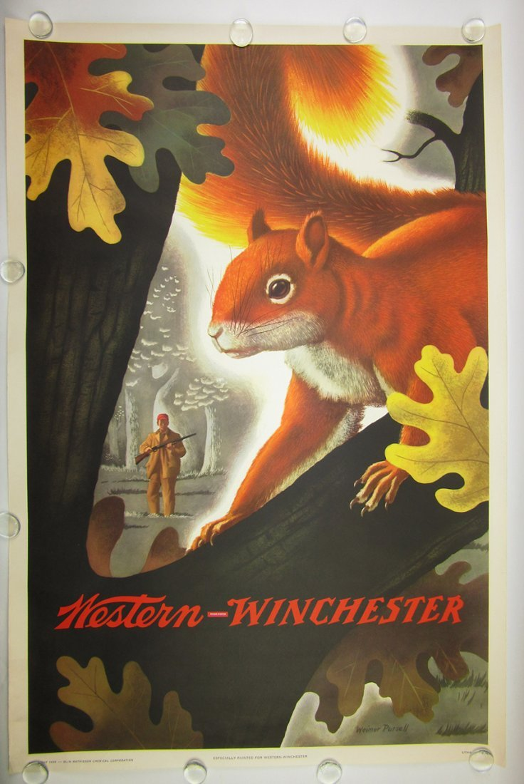 Winchester Firearms Poster. PURSELL, WEIMER. 1955-