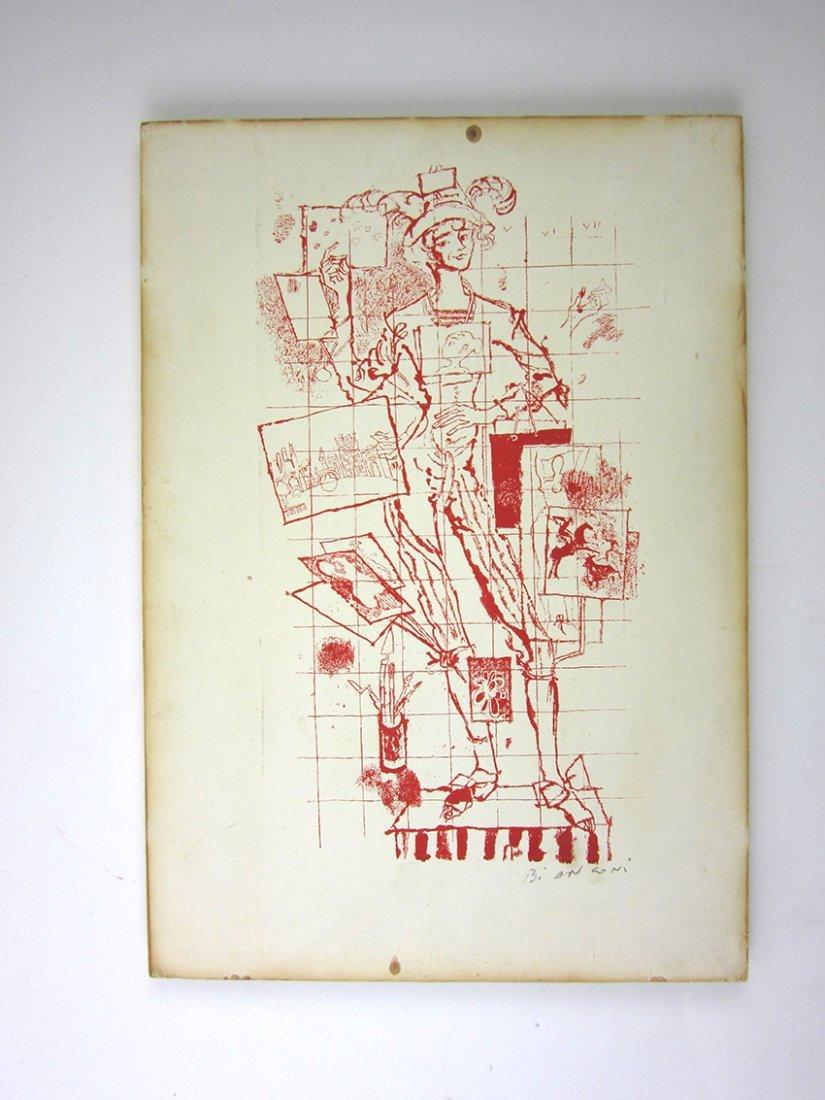 Fine Modernist Italian Lithograph BIANCONI, FULVIO.