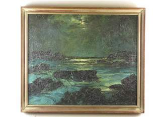 Original Oil on Canvas by Leonid Gechtoff