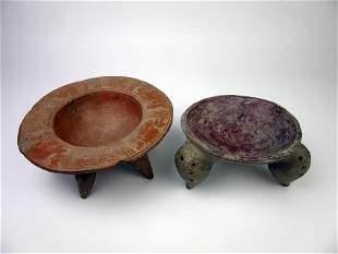 Pre-columbian legged vessels